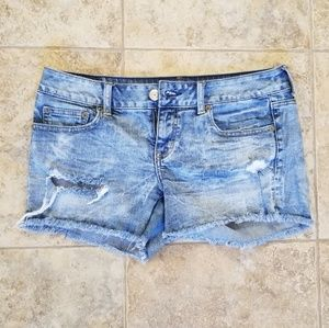 American Eagle Great Cond Distressed Bleach Shorts